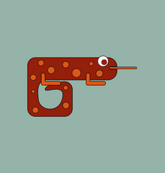icon chameleon flat symbol chameleon chameleon vector image