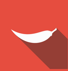 icon hot chili pepper on long shadow vector image