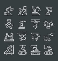 Industrial robot icon vector