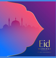 Islamic eid mubarak festival greeting vector