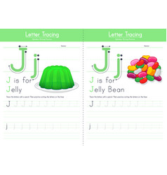 j for jelly and for jellybean vector image