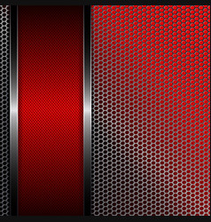 Latticed metal design with corrugated rectangular vector