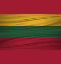 lithuania flag flag of lithuania blowig in the vector image