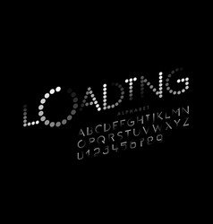 loading bar style font alphabet letters and vector image