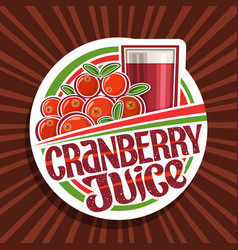 logo for cranberry juice vector image