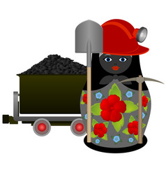 miner with a pick and shovel vector image