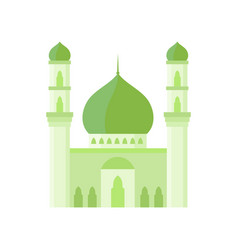 Mosque building light green color vector
