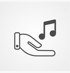 music note icon sign symbol vector image