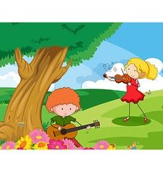 Musician vector image
