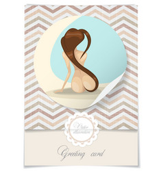 Nude Girl With Long Hair vector image