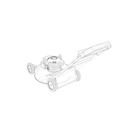 outline lawn mower wire-frame style vector image