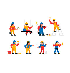 painters workers set men and women are vector image