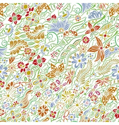 pattern with garden flowers vector image vector image