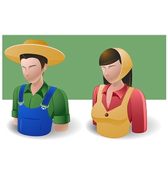 People Icons Farmer Man and Women vector