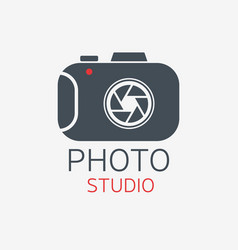 Photo camera logo photo studio concept vector