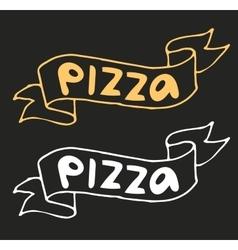 Pizza flat icon logo template vector