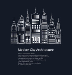 poster modern big city vector image