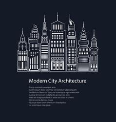 Poster modern big city vector