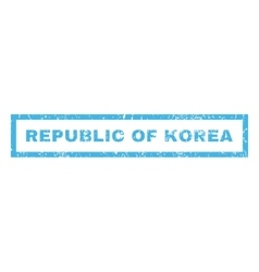 Republic Of Korea Rubber Stamp vector image