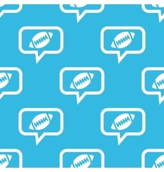 Rugby message pattern vector image