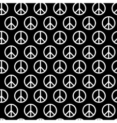 Seamless pattern with peace signs Background for vector