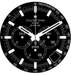 Smart watch face j vector