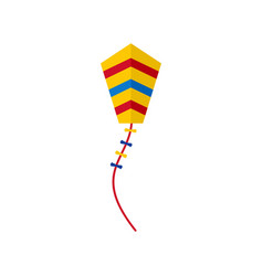 Spring kite icon flat style vector