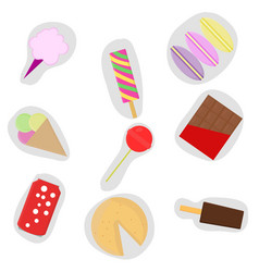 stickers for children images of sweetness vector image