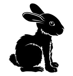 stylized rabbit vector image
