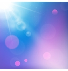 Sun rays on blue and purple colored background vector