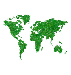 Symbols of globalization in 2 vector