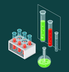 Test tubes icon on a special stand blood vector