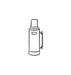 thermos hand drawn sketch icon vector image