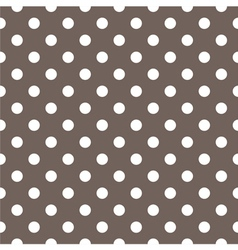 Tile white polka dots on brown background vector