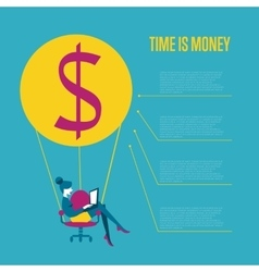 Time is money infographics template vector