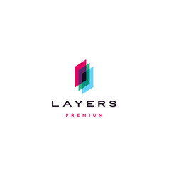 transparent layers logo icon in overlap vector image