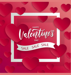 valentines day sale backgroundpposter template vector image