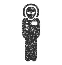 Visitor Skafandr Grainy Texture Icon vector image