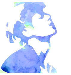 watercolor drawing man vector image