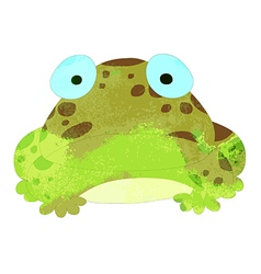 watercolor frog isolated on white background vector image