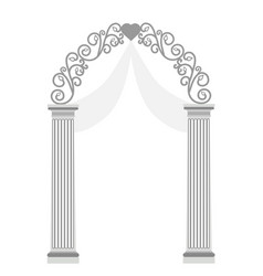 Wedding arch isolated on white background vector