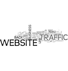 what you can do to generate website traffic text vector image