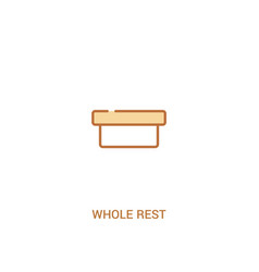 Whole rest concept 2 colored icon simple line vector