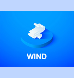 Wind isometric icon isolated on color background vector