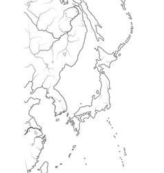 world map japanese archipelago japan nippon nihon vector image