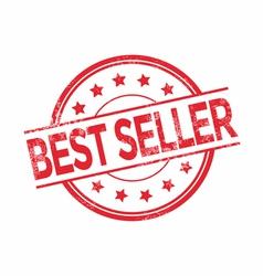 Best seller rubber stamp red color vector image