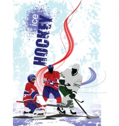 hockey poster vector image vector image