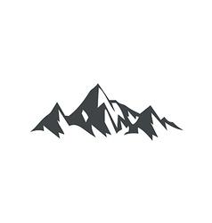 Ice mountain hiking travel logo vector