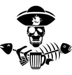 Piracy tavern symbol vector image