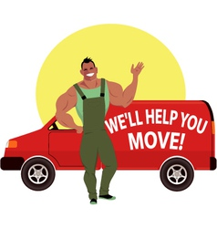 Professional mover vector image vector image
